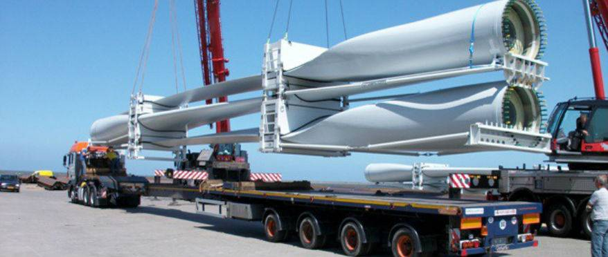 Transportation of wind turbines from Germany and the Netherlands to Azerbaijan