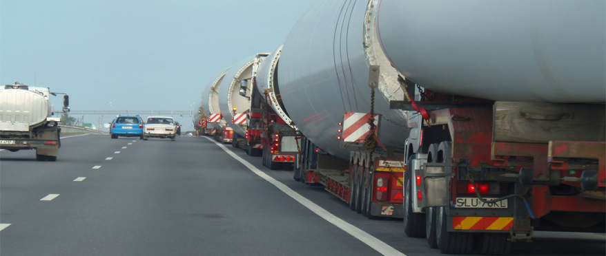 Transportation of wind turbines from Germany to Belarus